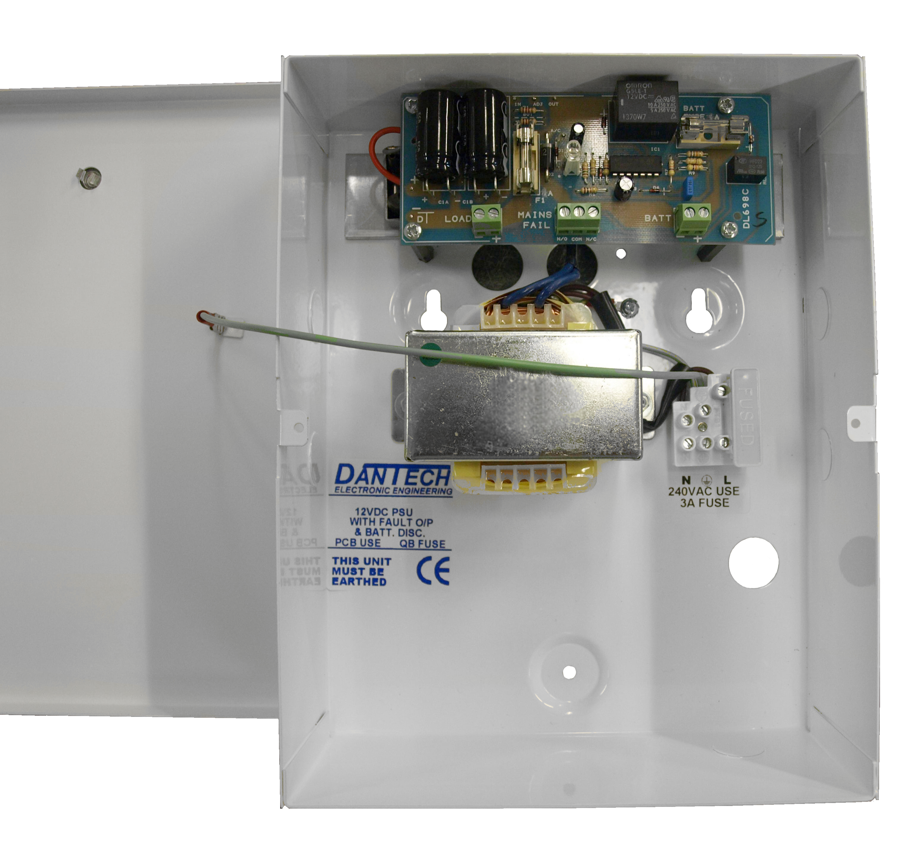 DA486: 12V 1 5A DC PSU with integrated UPS function & monitoring
